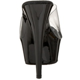 Noir Transparent 15,5 cm DELIGHT-601 Plateforme Mules Hautes