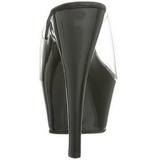 Noir Transparent 15,5 cm KISS-201 Plateforme Mules Hautes