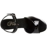 Noir Transparent 15 cm CAPTIVA-609 Plateforme Haut Talon