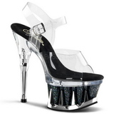 Noir Transparent 16,5 cm SPIKY-608MG Chaussures Stilettos