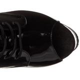 Noir Transparent 18 cm ADORE-1021 bottines plateforme pour femmes