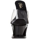 Noir Transparent 18 cm Pleaser MOON-701TG Plateforme Mules Hautes