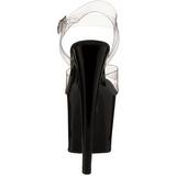 Noir Transparent 19 cm TABOO-708 Plateforme Haut Talon