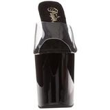 Noir Transparent 20 cm FLAMINGO-801 Pantoufles Talons Hauts