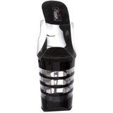 Noir Transparent 20 cm XTREME-801LN Plateau Mules Talons Hauts