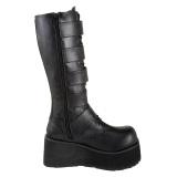 Noir Vegan 8,5 cm TRASHVILLE-518 bottes demonia - bottes plateforme unisex