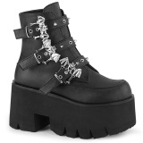 Noir Vegan 9 cm ASHES-55 bottines demonia plateforme