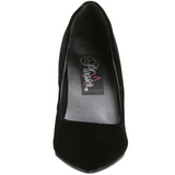 Noir Velours 10 cm VANITY-420 escarpins à bout pointu