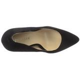 Noir Velours 13 cm AMUSE-20 escarpins à talon aiguille bout pointu