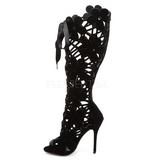 Noir Velours 13 cm AMUSE-2020 Bottes Femmes