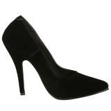 Noir Velours 13 cm SEDUCE-420 escarpins à bout pointu