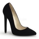Noir Velours 13 cm SEXY-20 Escarpins Chaussures Femme