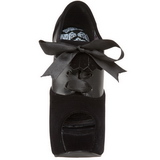 Noir Velours 14,5 cm Burlesque TEEZE-16 Chaussures pour femmes a talon