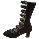 Noir Velours 6,5 cm BORDELLO WHIMSEY-115 Bottines