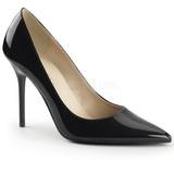 Noir Verni 10 cm CLASSIQUE-20 Escarpins Talon Aiguille Femmes