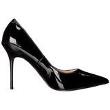 Noir Verni 10 cm CLASSIQUE-20 escarpins à talon aiguille bout pointu