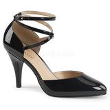 Noir Verni 10 cm DREAM-408 grande taille escarpins femmes