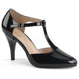 Noir Verni 10 cm DREAM-425 grande taille escarpins femmes
