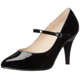 Noir Verni 10 cm DREAM-428 grande taille escarpins femmes