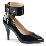 Noir Verni 10 cm DREAM-432 grande taille escarpins femmes