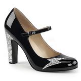 Noir Verni 10 cm QUEEN-02 grande taille escarpins femmes