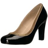 Noir Verni 10 cm QUEEN-04 grande taille escarpins femmes