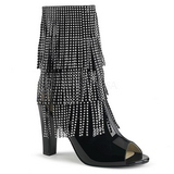 Noir Verni 10 cm QUEEN-100 grande taille bottines femmes