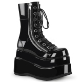 Noir Verni 11,5 cm BEAR-265 bottines demonia plateforme