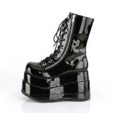 Noir Verni 11,5 cm BEAR-265 bottines demonia plateforme