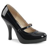 Noir Verni 11,5 cm PINUP-01 grande taille escarpins femmes
