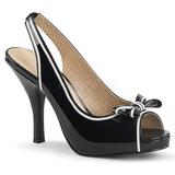 Noir Verni 11,5 cm PINUP-10 grande taille sandales femmes
