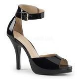 Noir Verni 12,5 cm EVE-02 grande taille sandales femmes