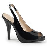 Noir Verni 12,5 cm EVE-04 grande taille sandales femmes