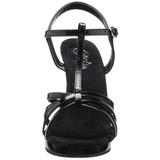 Noir Verni 12 cm FLAIR-420 Sandales Femme a Talon