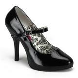 Noir Verni 12 cm TEMPT-35 Escarpins Chaussures Femme