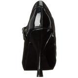 Noir Verni 12 cm rockabilly PRETTY-50 escarpins à talons hauts