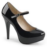 Noir Verni 13,5 cm CHLOE-02 grande taille escarpins femmes