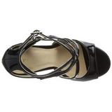 Noir Verni 13 cm AMUSE-15 Sandales de Soirée a Talon