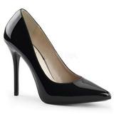 Noir Verni 13 cm AMUSE-20 escarpins à talon aiguille bout pointu