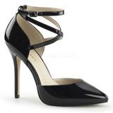 Noir Verni 13 cm AMUSE-25 Chaussures Escarpins de Soirée