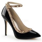 Noir Verni 13 cm AMUSE-28 Chaussures Escarpins Classiques