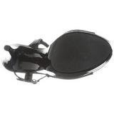 Noir Verni 13 cm COCKTAIL-509 Sandales Hauts Talons Plateforme