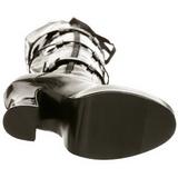 Noir Verni 13 cm ELECTRA-3028 bottes cuissardes hommes
