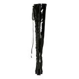 Noir Verni 13 cm ELECTRA-3050 Bottes Cuissardes Talons Hauts