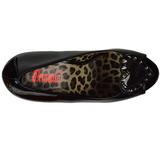 Noir Verni 13 cm PIXIE-17 Chaussures femme a talon avec rivets