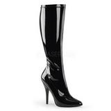 Noir Verni 13 cm Pleaser SEDUCE-2000 Bottes Femmes
