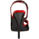 Noir Verni 13 cm SEDUCE-117 High Heels Sandales Femmes