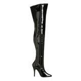 Noir Verni 13 cm SEDUCE-3000 bottes overknee femme