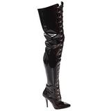 Noir Verni 13 cm SEDUCE-4026 bottes cuissardes hommes
