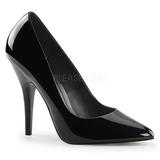 Noir Verni 13 cm SEDUCE-420 Escarpins Chaussures Femme